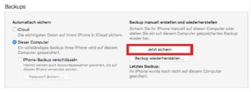 iPhone Backup erstellen und lokal speichern Tipps