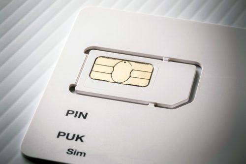 SIM-Karte mit PIN und PUK