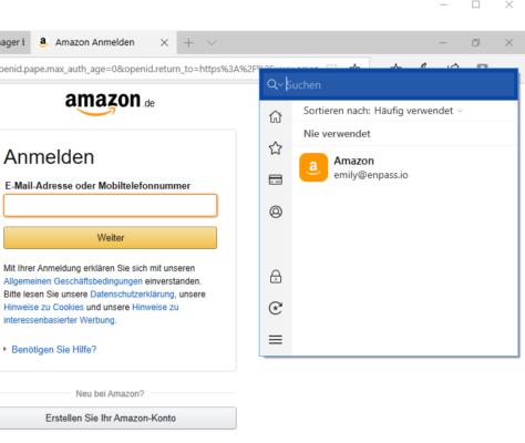 Browsererweiterung Enpass