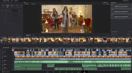 Screenshot von Deliver in DaVinci Resolve