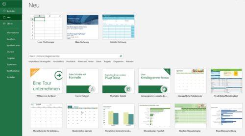 Rechnungsvorlagen in Excel