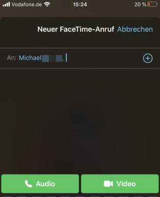 FaceTime Anruf