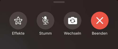 Funktionen in FaceTime