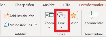 Link in PowerPoint einfügen