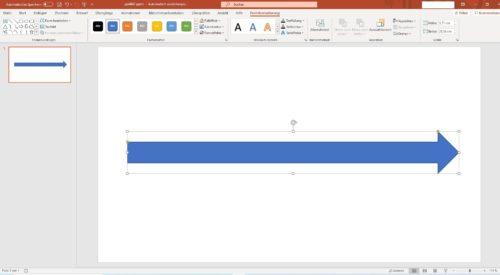 Blockpfeil in PowerPoint Folie einfügen