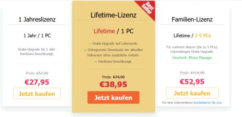 Preise von VideoProc 4K