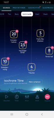 Mit der Einschlafhilfe-App Relax Melodies besser einschlafen