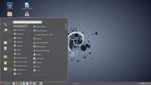 Screenshot Debian