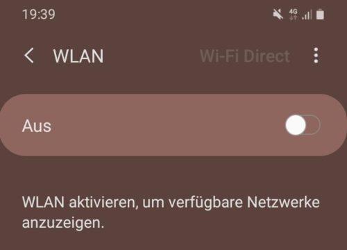 WLAN unter Android aktivieren