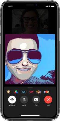 Effekte und Memoji während FaceTime sind möglich