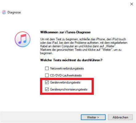iTunes Fehlerdiagnose