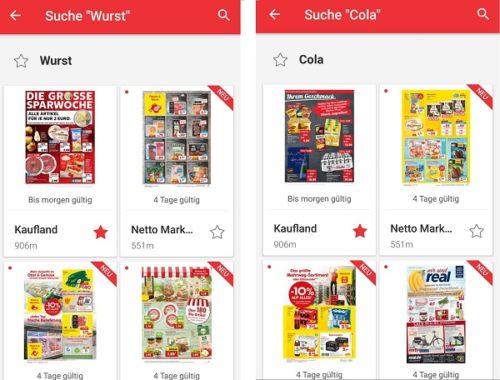 KaufDA App Prospekte Wurst Cola Bier