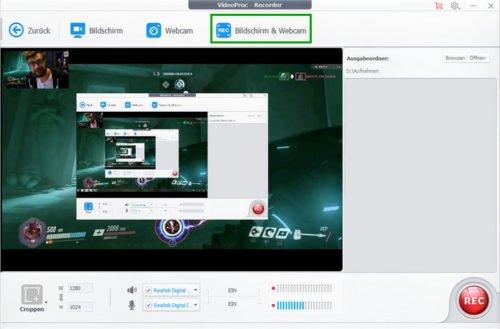Facecam und Bildschrim Recorder