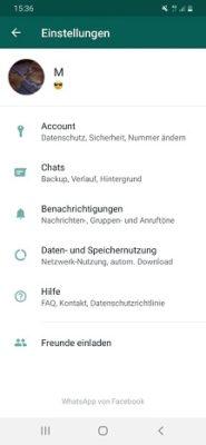 WhatsApp-Profilbild einstellen
