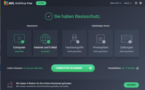 Antivirus kostenlos mit AVG AntiVirus Free Edition