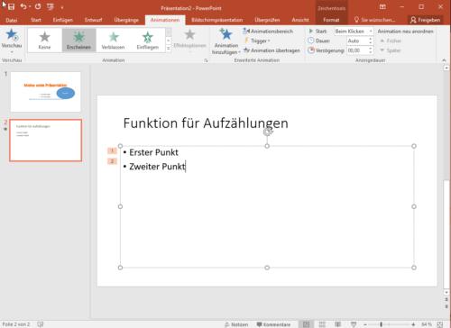 Animationen in PowerPoint