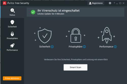 Antivirus kostenlos mit Avira Free Security