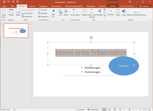 Gestaltungselemente in PowerPoint