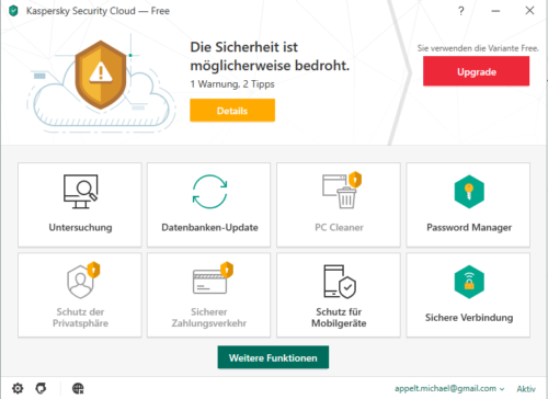 Antivirus kostenlos mit Kaspersky Security Cloud