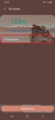 Schreibgeschützte SD Karte formatieren in Android