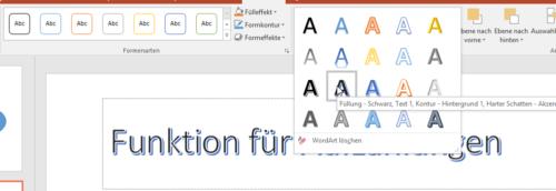 WordArt ist allen Office-Programmen enthalten
