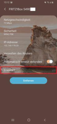 Android DHCP nicht aktiviert
