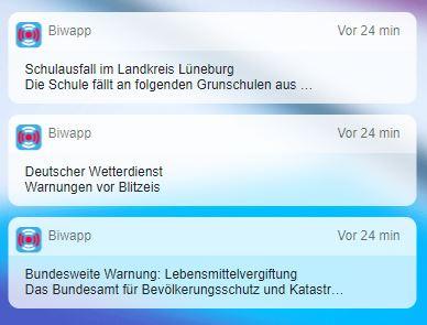 Biwapp App Regeln Alarm