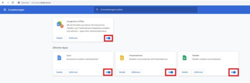 Chrome Erweiterungen