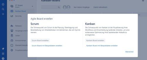Atlassian Jira agile Board erstellen