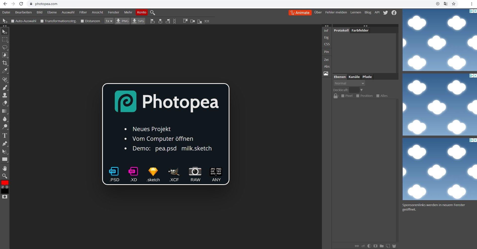 Photopea Der Online Editor für Fotos im Test   WinTotal.de