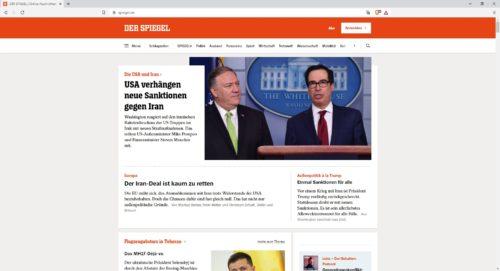 Startseite von Spiegel.de
