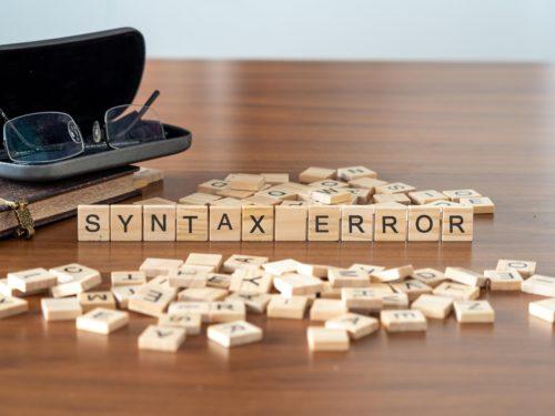 Syntax Error Bedeutung