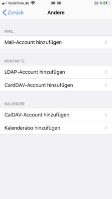 Anderen Account wie GMX auf dem iPhone einrichten