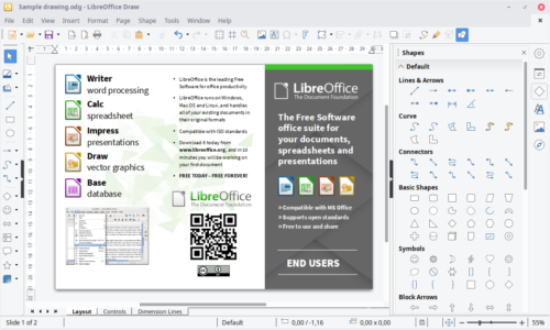 Freeware LibreOffice Draw unter Linux