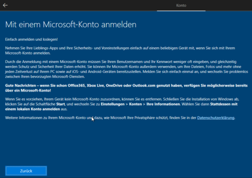 Vorteile vom Microsoft-Konto