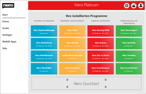 Nero Platinum Browser