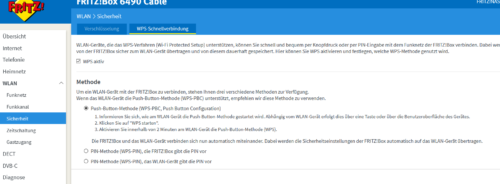 WPS-Schnellverbindung in der FRITZ!Box