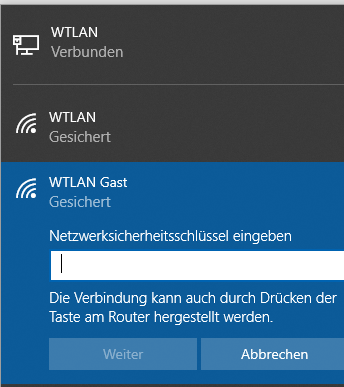 WPS unter Windows 10