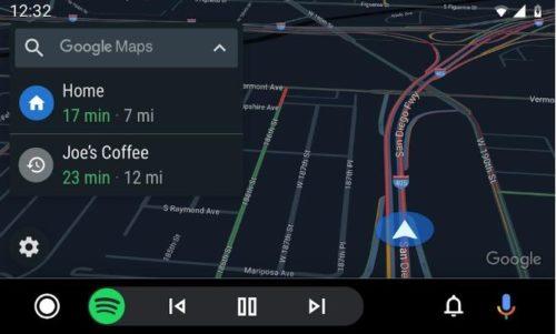 Android Auto mit Google Navi App