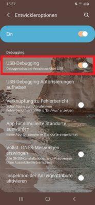USB-Debugging für die Nutzung von scrcpy aktivieren