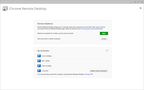 Chrome Remote Desktop Freeware