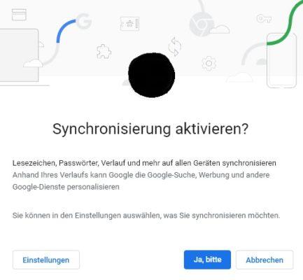 Synchronisierung in Google Chrome unter Windows aktivieren
