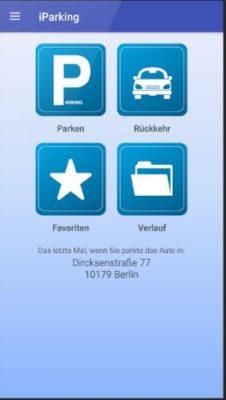 Das Auto finden mit der iParking App