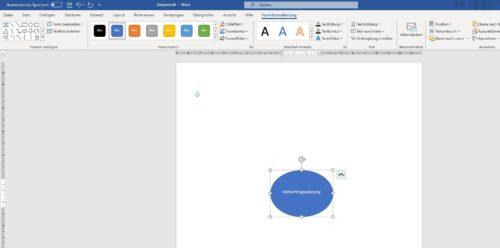 Zentraler Begriff im Office Word Mindmap