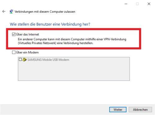 VPN Verbindung in Windows 10 einrichten