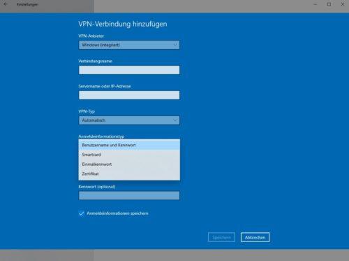 VPN einrichten auf PC unter Windows 10