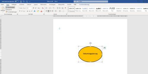 MindMap in Word erstellen Ellipse anpassen