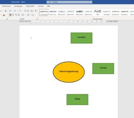 Mindmap in Word erstellen