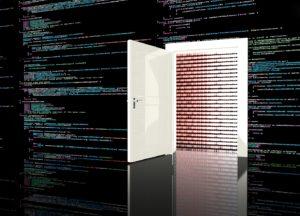 Computer Backdoor vor Schadsoftware Code-Zeilen