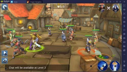 Screenshot von Dragon Champions